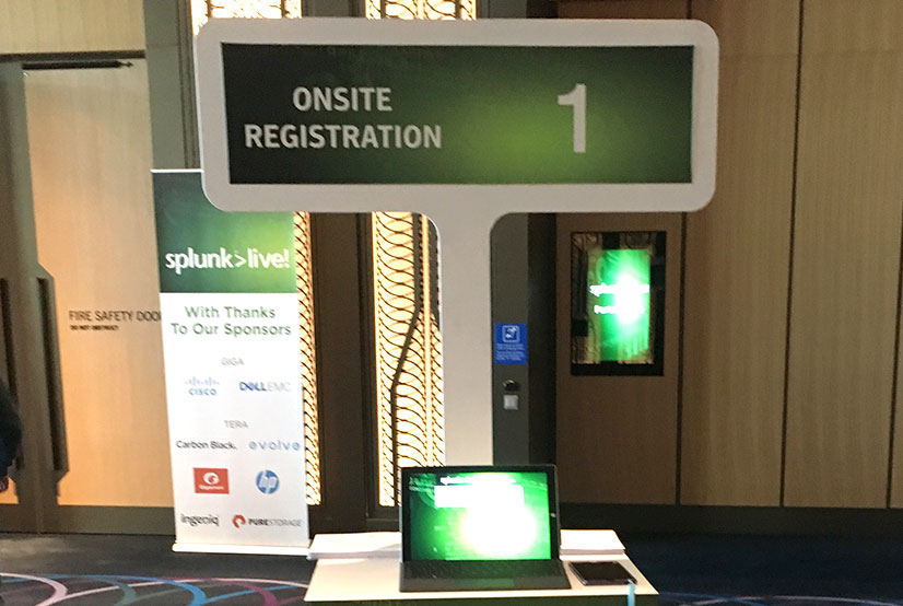SplunkLive! Onsite Registration