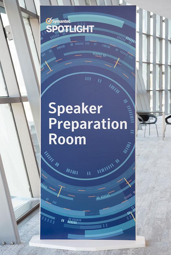 Symantec Spotlight Speaker Preparation Room